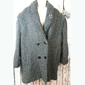 💯✔WOOL DANI COLBI Pea Coat Womens Jacket warm